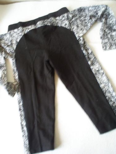 calza negra elast. unica talla m..nueva ! lazo de cinturon