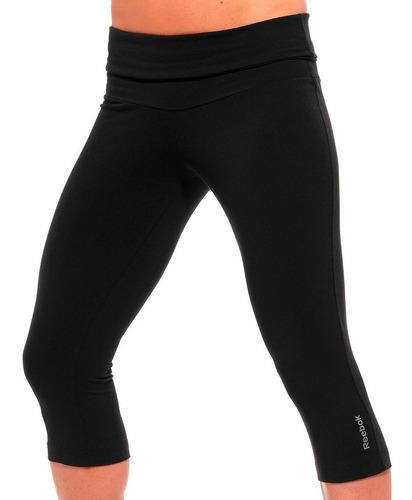 calza reebok 3/4 capri entrenamiento fitness mvd sport