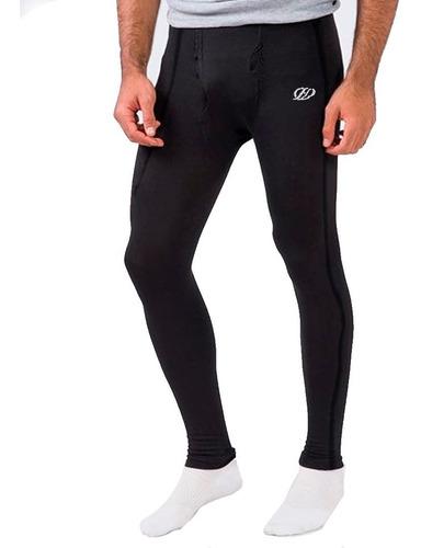 calza térmica hombre: running - rugby- futbol- fitness hq