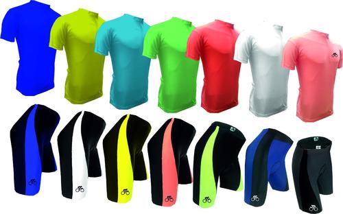 calza y remera ciclista por conjunto combo