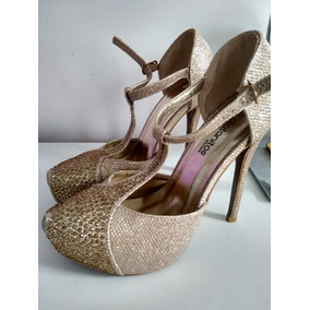 bfd1fdb608b Zapatos Plateados Para Fiesta Talla - Calzado Mujer en Mercado Libre ...