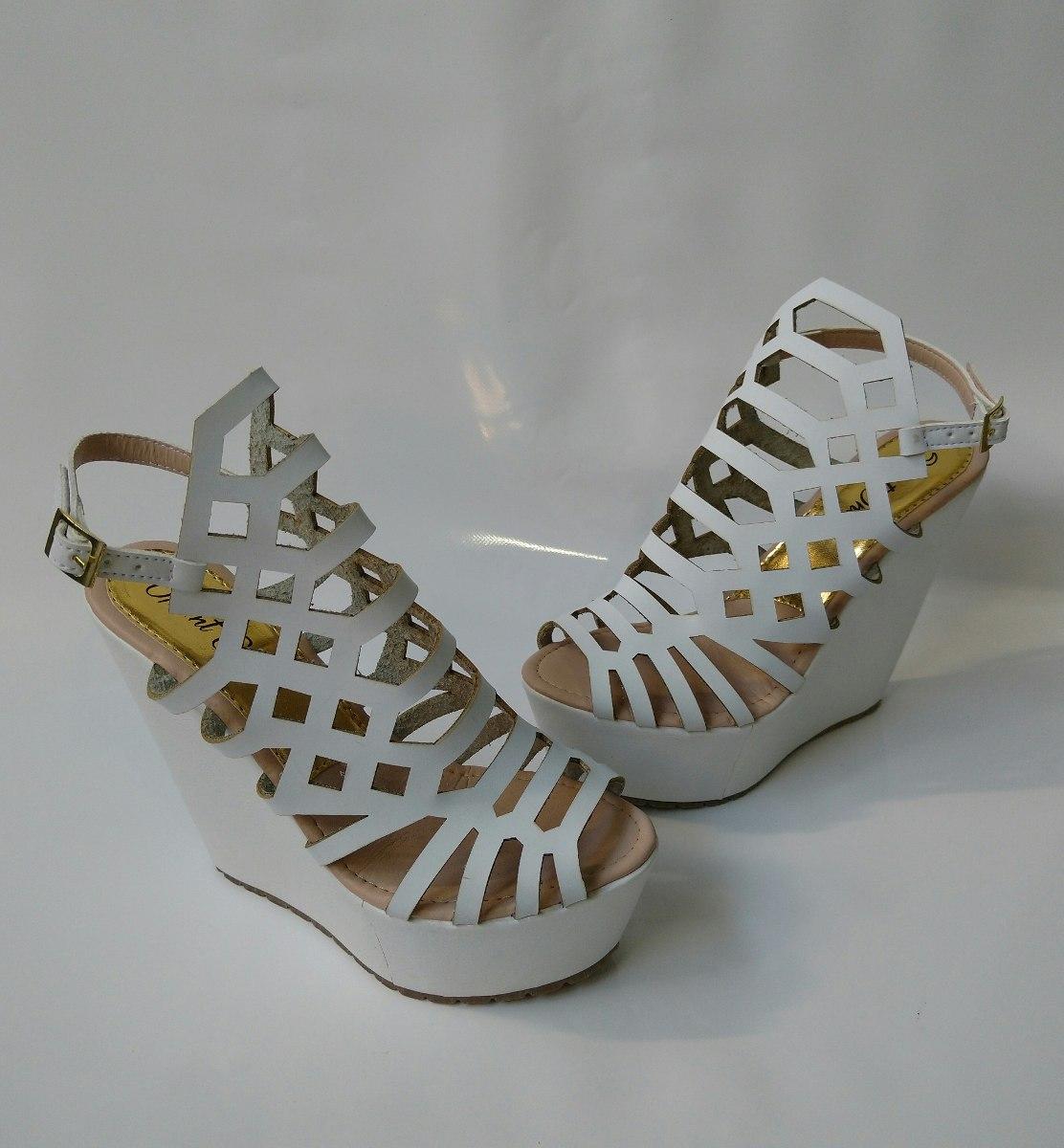 ceb966ed calzado alto plataforma blanco de moda beige envio gratis. Cargando zoom.