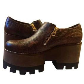 Con Americaninotalla Zapatos Mujer 36 Plataforma Calzado 5L34jAR