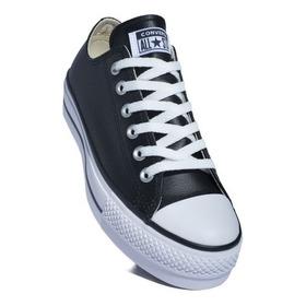 Calzado Converse All Star Plataform Cuero Negro Chuck Taylor