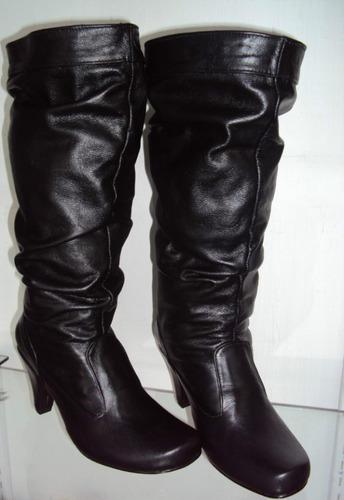 calzado dama bota tacon  modelos altas y bajas en cuero