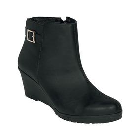 b5ffe581 Calzado Zapato Dama Tipo Botin Plataforma Negro Dorado Plata ...