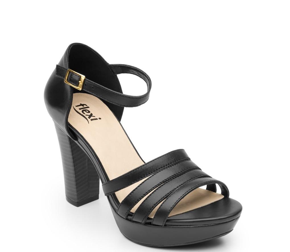 ec8830631f5ed calzado dama mujer flexi casual zapatilla piel negro comodo. Cargando zoom.
