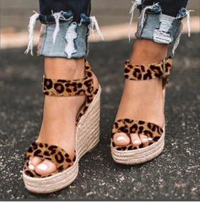 Cuña Calzado Con Tacón Mujer Dama Sandalia Plataforma Alta PkXZOiu