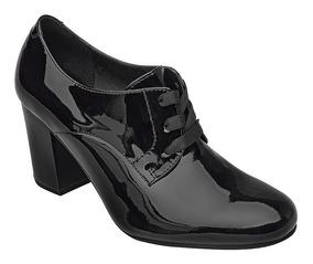 Calzado Negro Zapatilla Comodo Dama Mujer Botín Charol Flexi WDH29YEI