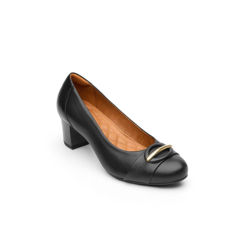 fb843d0784960 calzado dama mujer zapatilla vestir flexi piel negro comodo. Cargando zoom.
