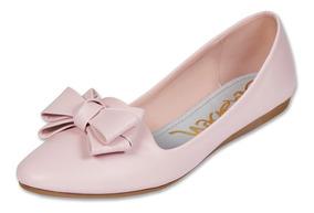 Calzado Dama Mujer Zapato Flat Clasben Tipo Piel Rosa Comodo