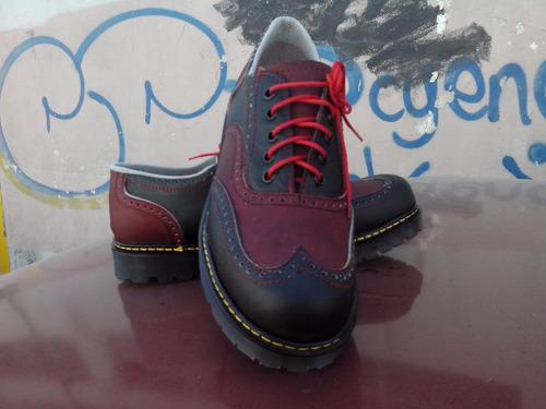 calzado de pachuco, rojo con negro, rojo, negro, 666