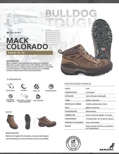 calzado de seguridad mack colorado triplee