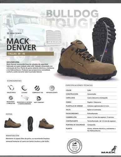 calzado de seguridad mack denver triplee