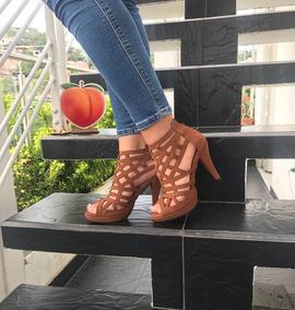 aa5a0fcd Zapatos De Tacón Color Miel, Para Mujer. Nuevos - Zapatos en Mercado Libre  Colombia