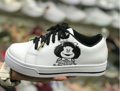 calzado deportivos tenis blanco negro mafalda moda colombia