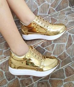 Dama Mujer 2017 Tenis Moda Dorado Zapato Calzado Deportivo Pk0wON8nX