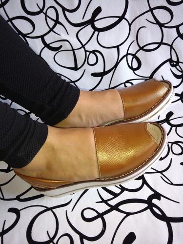 calzado en cuero original sandalia color bronce envío gratis
