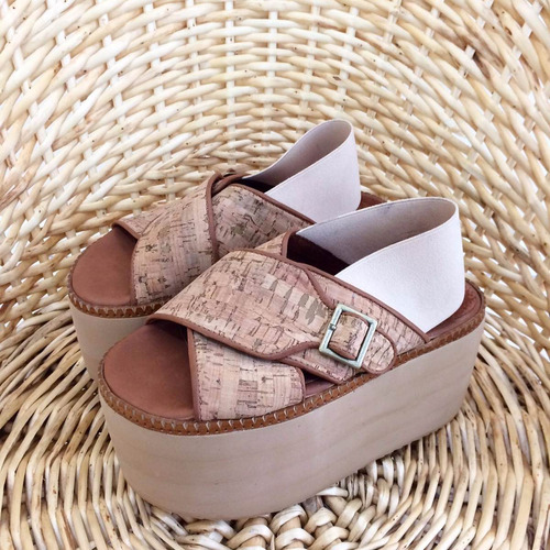 calzado femenimo plataforma, modelo peach (munnah shoes)