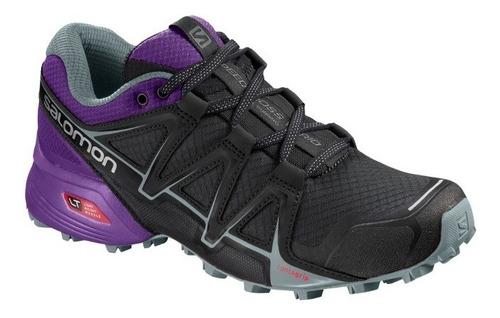calzado femenina salomon - speedcross vario 2 w negro/morado