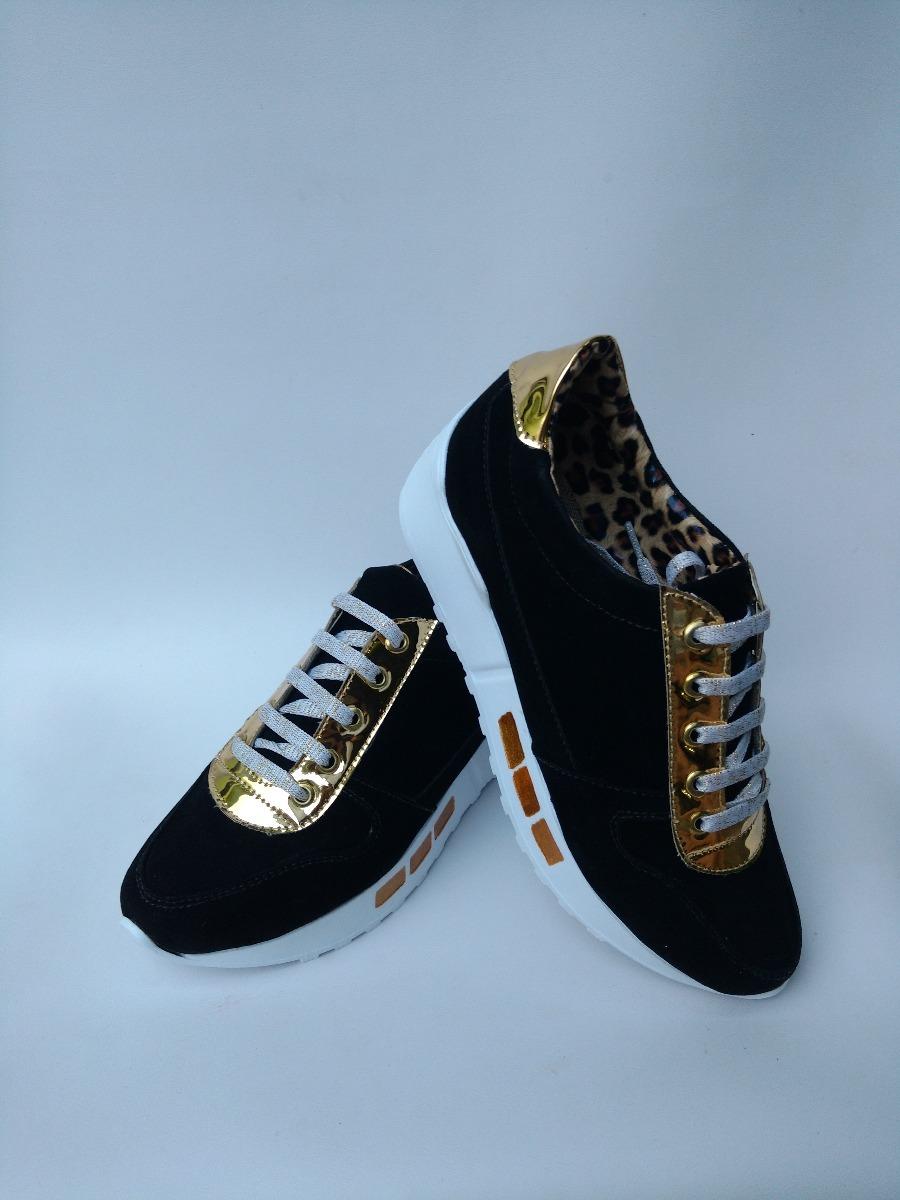 5498767a06 calzado juvenil para damas jovenes tenis negros de moda dama. Cargando zoom.