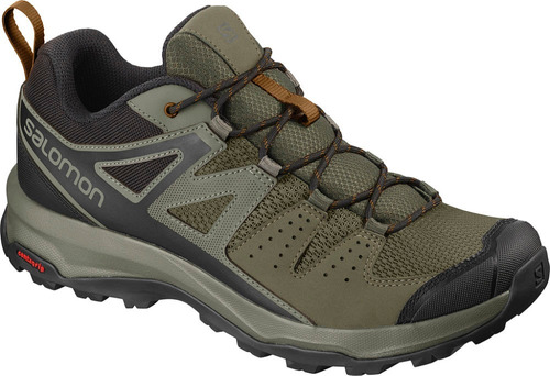 calzado masculina salomon - x radiant verde - hiking
