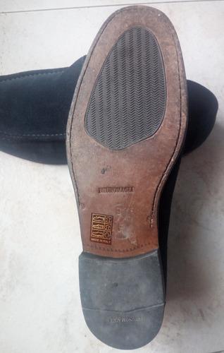 calzado mocasin gamuza bruno magli azul oscuro