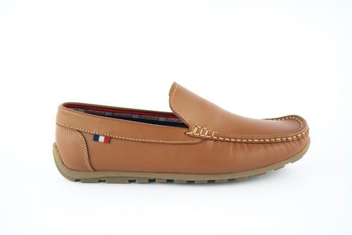 calzado mocasines cuero hombre - rojo