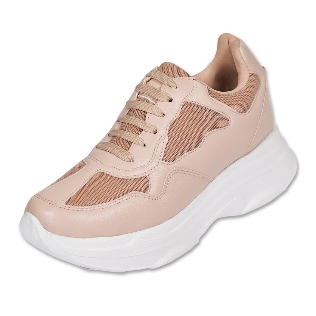 03999200 Calzado Dama Mujer Tenis Casual/urbano Tipo Piel Rosa Comodo ...