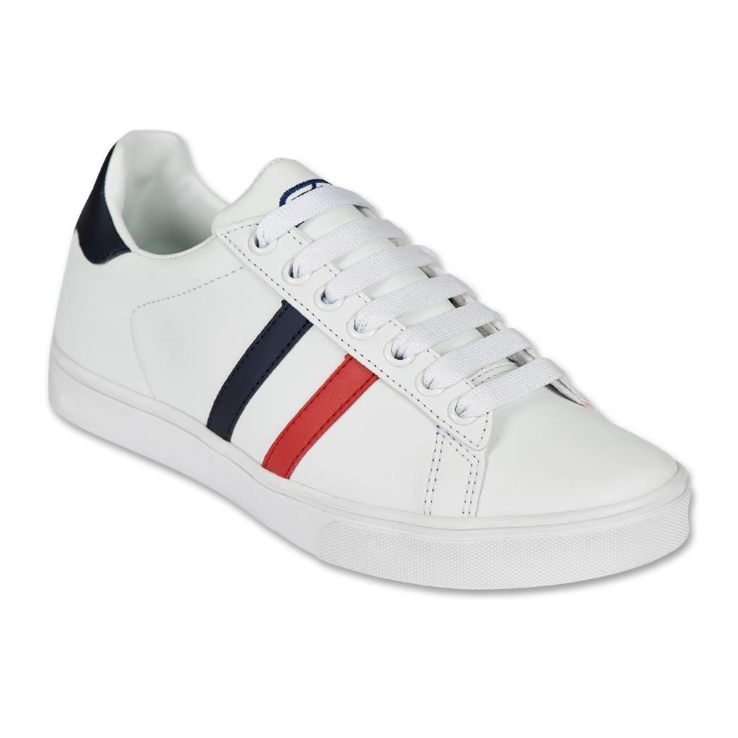51cf328818 Calzado Juvenil Niño Tenis Moda Casual Tipo Piel Blanco Suav ...