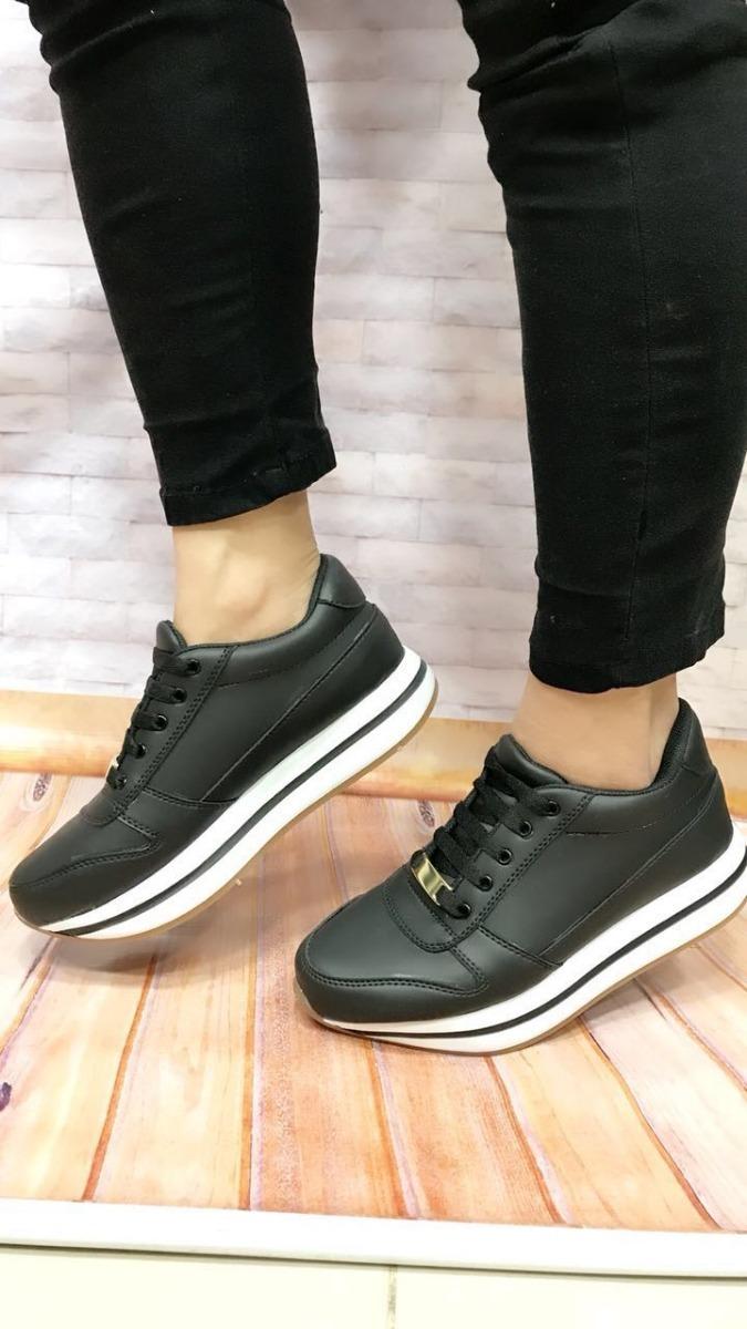 55eb891a95d74 calzado para dama tenis negros deportivos calzado moda mujer. Cargando zoom.