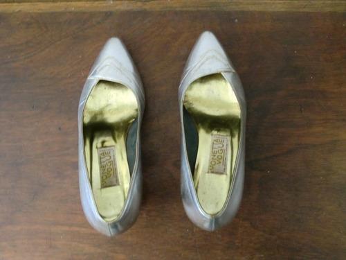 calzado para damas plateado