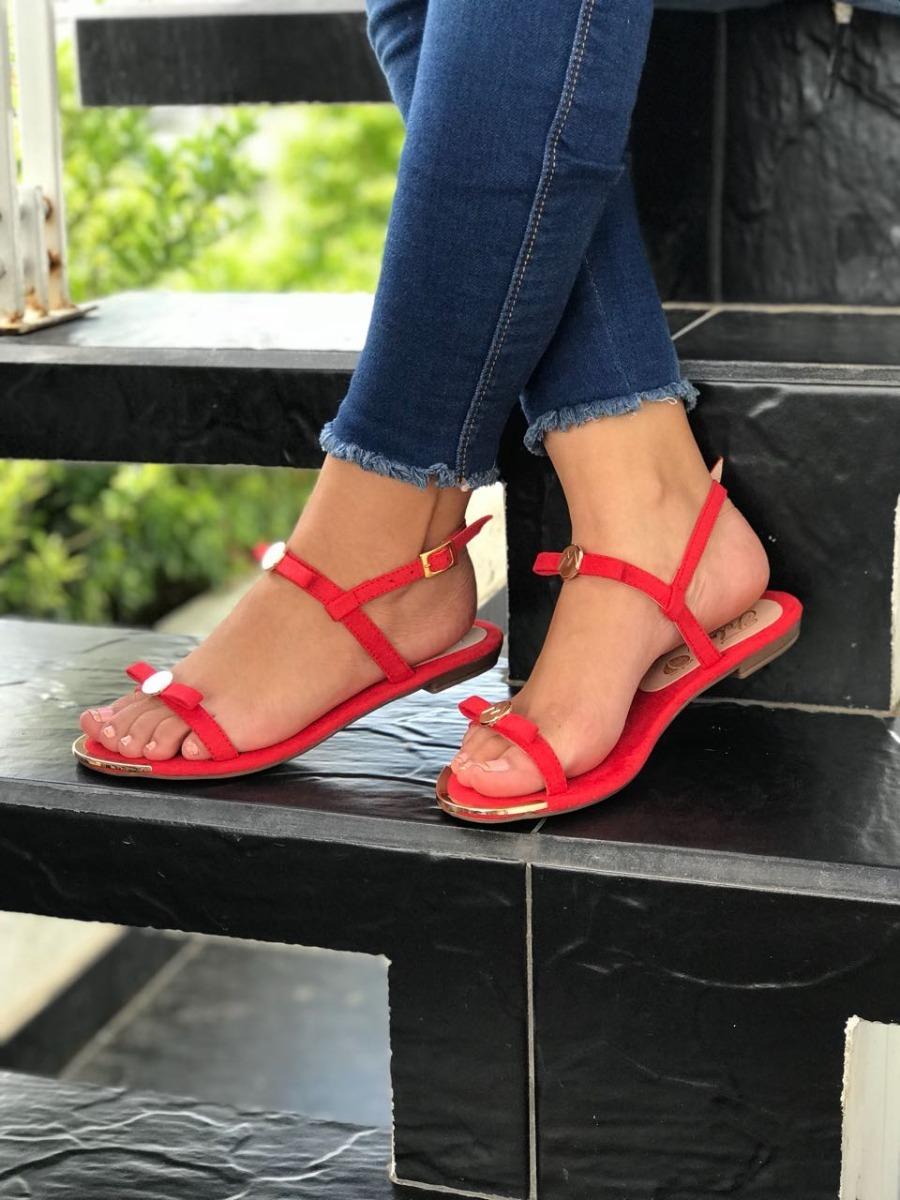 62616369ab2 calzado para mujer sandalias rojas planas elegantes de moda. Cargando zoom.