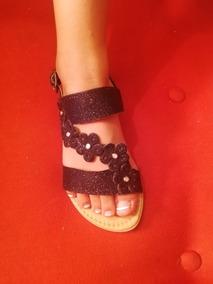 5557e299 Hermosas Sandalias Plateadas De Disenador - Zapatos para Niñas Negro ...