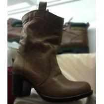 Botas Para Mujer Calzado Cuero Zapatos Vestir, Urbano Texans