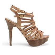 Zapatos Sandalias Taco Madera Plataforma Guess 7.5 38 Stock
