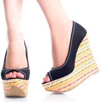 Zapatos Sandalias Cuna Importada De Usa Negro 7 37 Stock