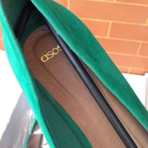 Zapatos Plataforma Verdes Gamuza Mujer Cuña Tacos Ropa Verde