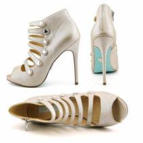 Zapatos Cuero 38 1/2 Plateado Cuero Betsy Heat Ofertaaaa