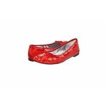 Vaneli Balerinas Pitón Talla 6.5 Color Rojo Con Coral