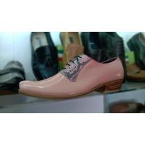 Zapatos Palo Rosa Charol Vestir Hombre Calzado Cuero Botas