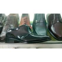 Zapatos Charol Negro Hombre Calzado Vestir Elegantes Cuero