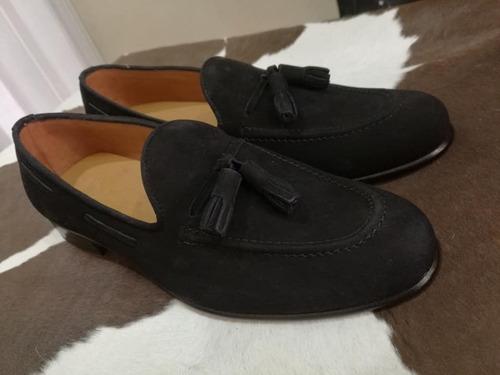 calzado slippers en cuero suela en cuero