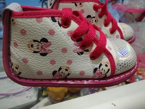 calzado tennis sandalias no tuerce minnie,princesa sofia,car