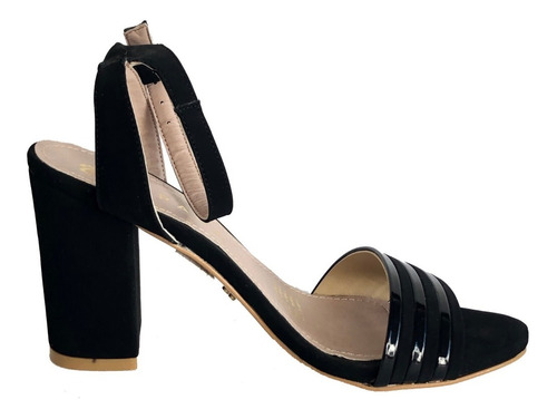 calzado zapatilla sandalia, dama ev 1129, negro