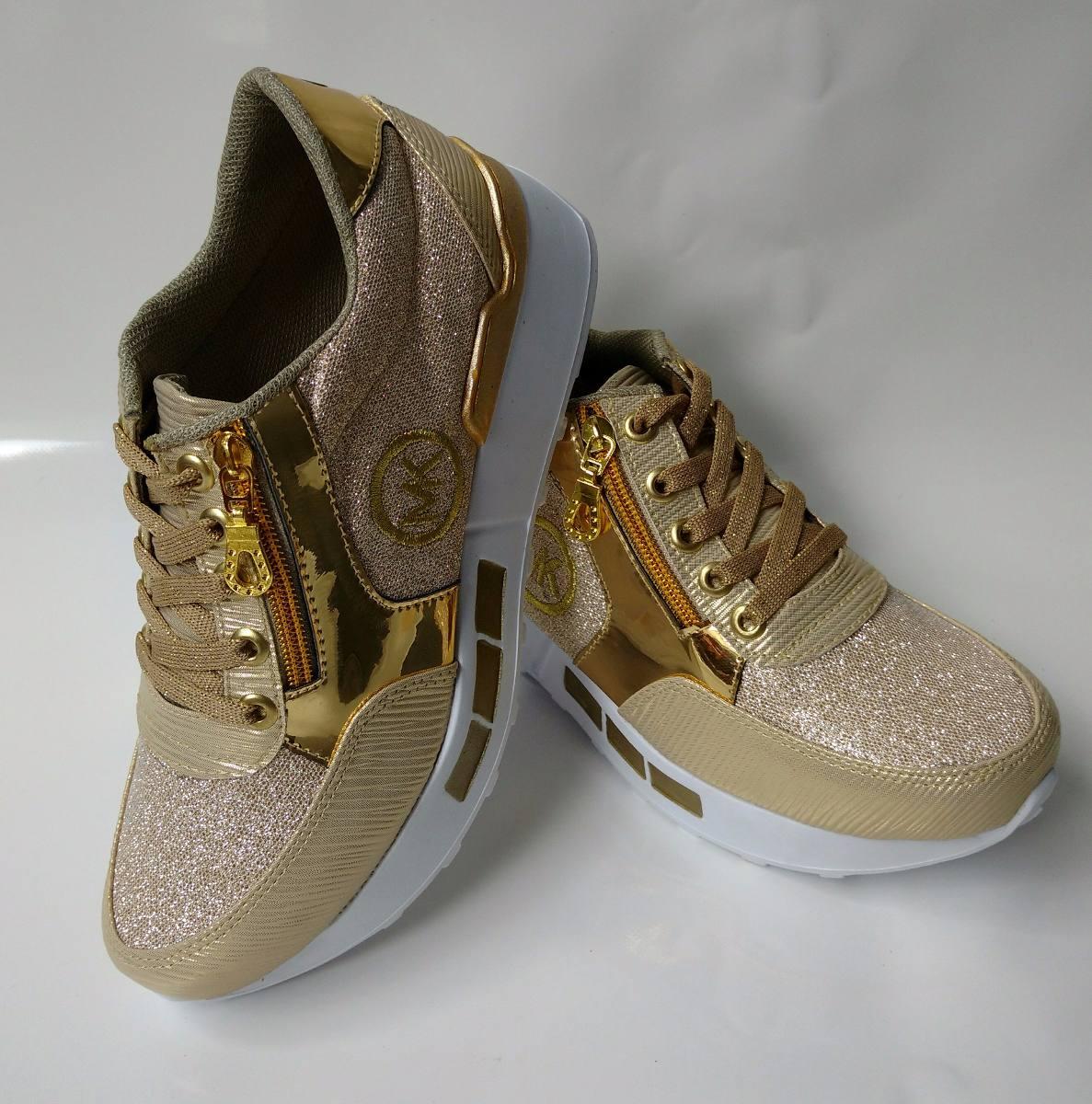 b4cbb3418d597 calzado zapato deportivo de moda color dorado envio gratis. Cargando zoom.