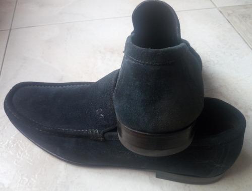 calzado zapato mocasin gamuza bruno magli azul oscuro