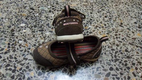 calzado zapatos montgreen niña talla 25 16 centimetros