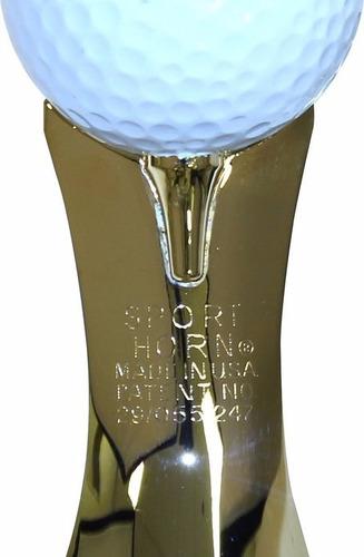 calzador de zapatos de acero color oro motivo pelota de golf