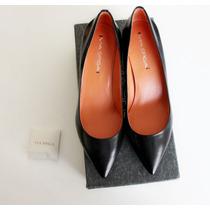 Zapatos Taco Bajo 3,5 Cm Via Spiga Italia Nuevo Negro 37